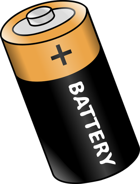 Graphic of a Duracell battery.