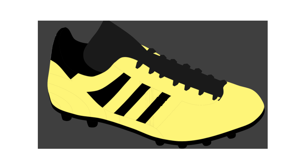 Illustration of yellow soccer shows