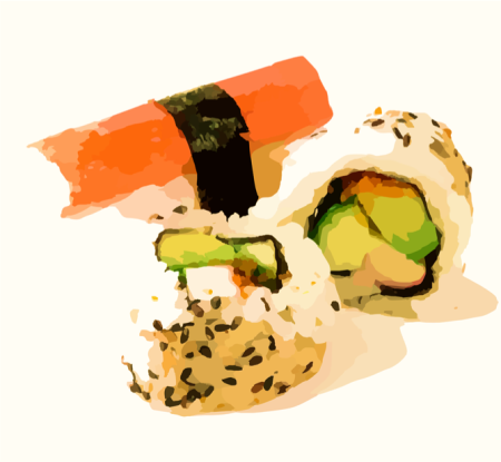 Graphic of sushi.