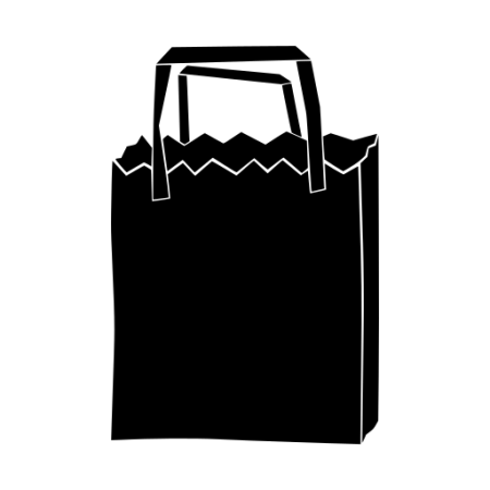 Graphic of a shopping bag.