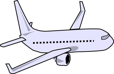 Graphic of an airplane.