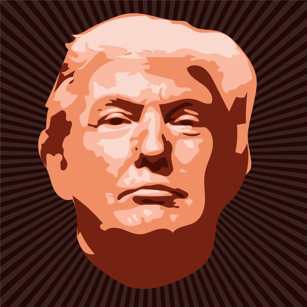 a picture of Donald Trump's face