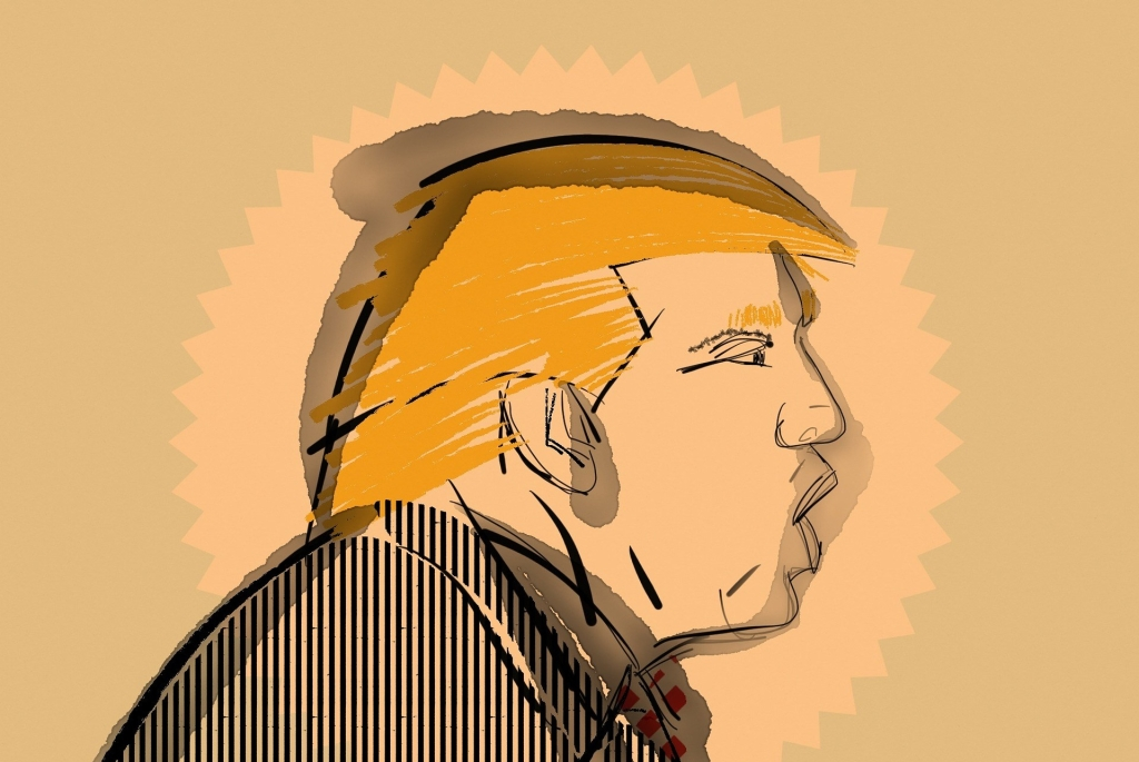 An illustration of Donald Trump