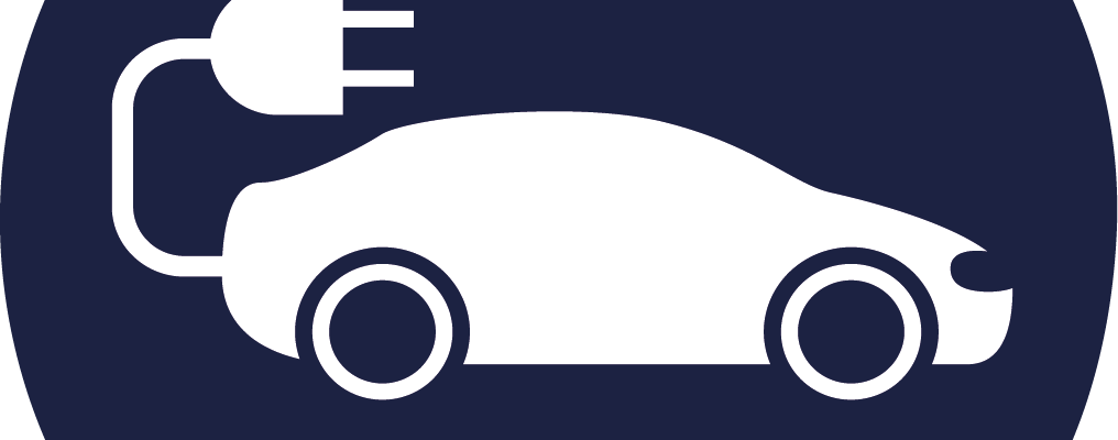 Graphic of an electric vehicle